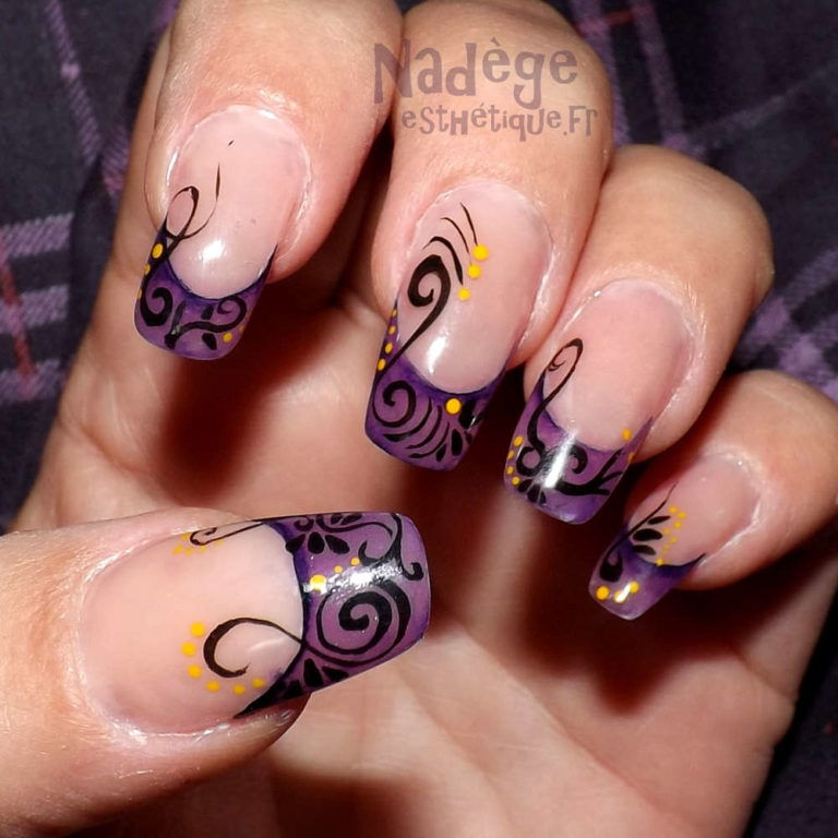 Esthéticienne Ecully Lyon Ongles Chablon nail-art pinceau