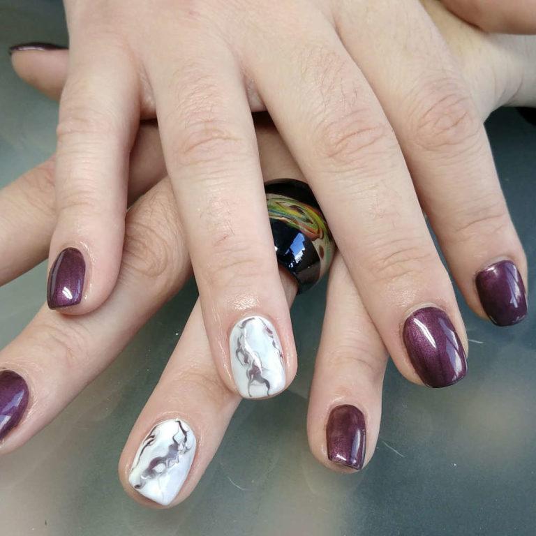 Esthéticienne Ecully Lyon Ongles Chablon nail-art marbre